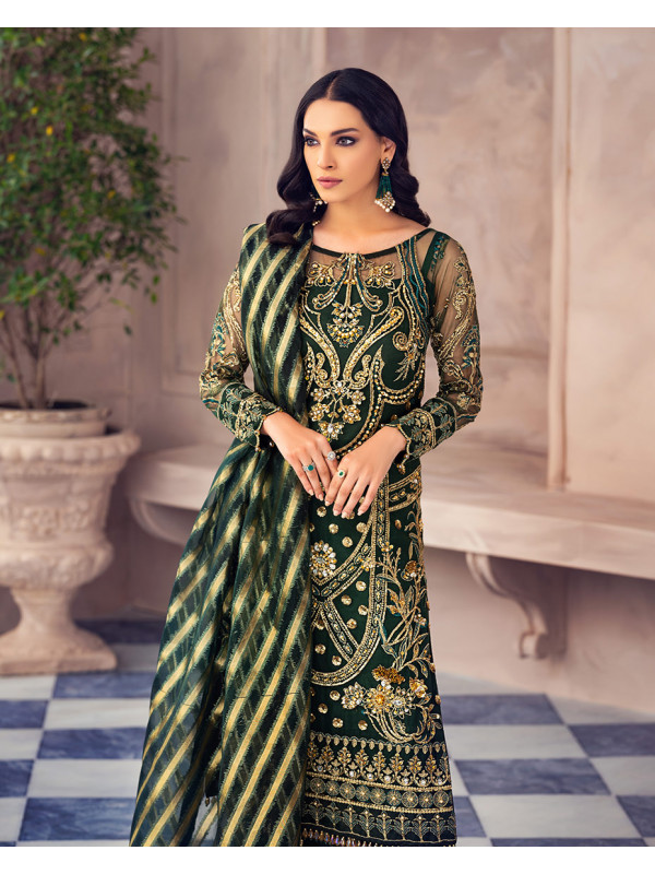 Azura Net Embroidered 4 Piece Suit AG-01 Alayna by Gulaal Unstitched Luxury Formals