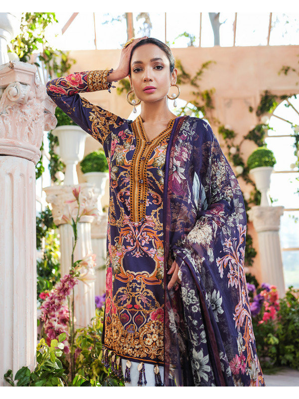 Cecilia Embroidered Organza 3-Piece Suit GL-11 Cielo By Gulaal Lawn 2020 Volume I