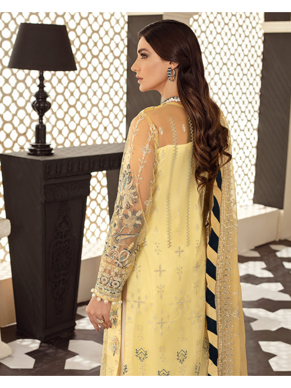 Magnolia Embroidered Net 3-Piece Suit D-1 Gulaal Unstitched Luxury Formals Eid Collection