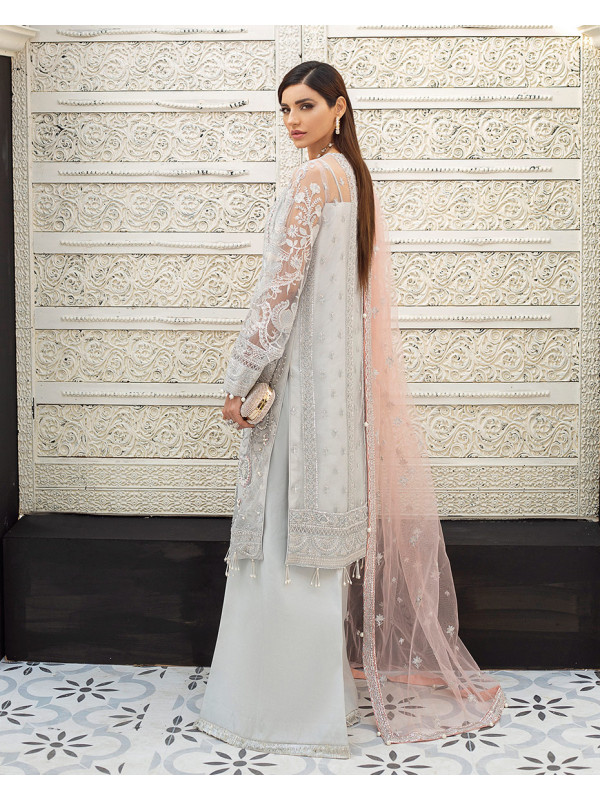 Amelie Embroidered Net 3-Piece Suit D-2 Gulaal Unstitched Luxury Formals Eid Collection