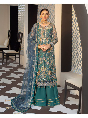 Aria Embroidered Net 3-Piece Suit D-4 Gulaal Unstitched Luxury Formals Eid Collection