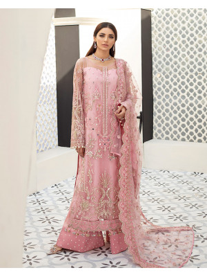 Roselyn Embroidered Net 3-Piece Suit D-5 Gulaal Unstitched Luxury Formals Eid Collection
