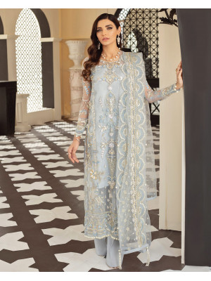Layla Embroidered Net 3-Piece Suit D-6 Gulaal Unstitched Luxury Formals Eid Collection