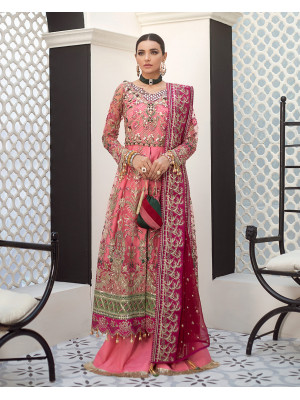 Sofia Embroidered Net 3-Piece Suit D-7 Gulaal Unstitched Luxury Formals Eid Collection