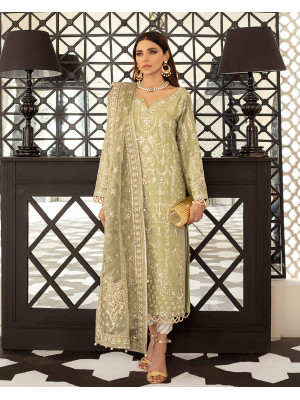Clara Embroidered Net 3-Piece Suit D-8 Gulaal Unstitched Luxury Formals Eid Collection