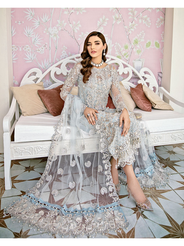 Avenir Embroidered Net 3-Piece Suit WS-01- Fleur De Rose Wedding Formals