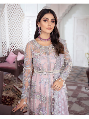 Naaz Embroidered Net 3-Piece Suit WS-09 - Meherma Wedding Formals Collection