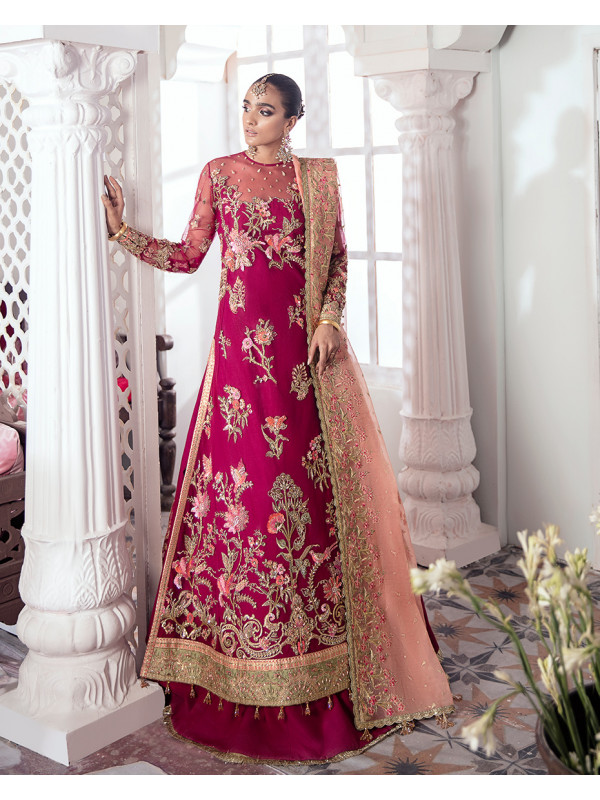 Chameli Embroidered Net 3-Piece Suit WS-10- Meherma Wedding Formals Collection