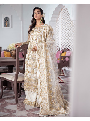 Shehnaz Embroidered Net 3-Piece Suit WS-11 - Meherma Wedding Formals Collection
