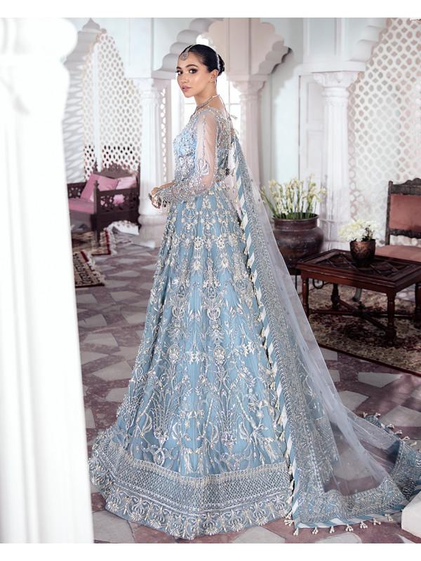 Mehnaaz Embroidered Net 3-Piece Suit WS-13 - Meherma Wedding Formals Collection