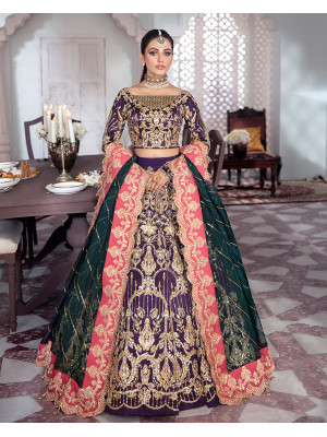 Kehkshan Embroidered Net 3-Piece Suit WS-14 - Meherma Wedding Formals Collection