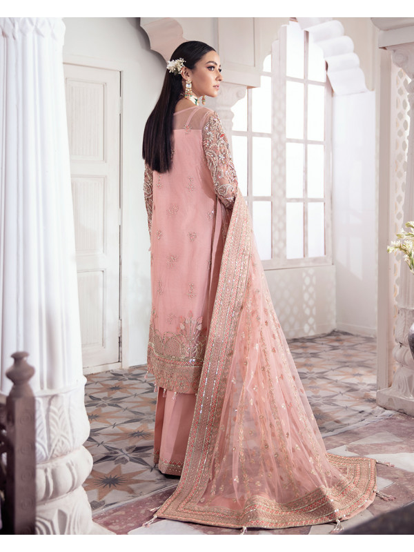 Arjumand Embroidered Net 3-Piece Suit WS-15 - Meherma Wedding Formals Collection