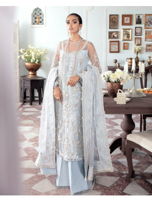 Saika Embroidered Net 3-Piece Suit WS-20 - Meherma Wedding Formals Collection
