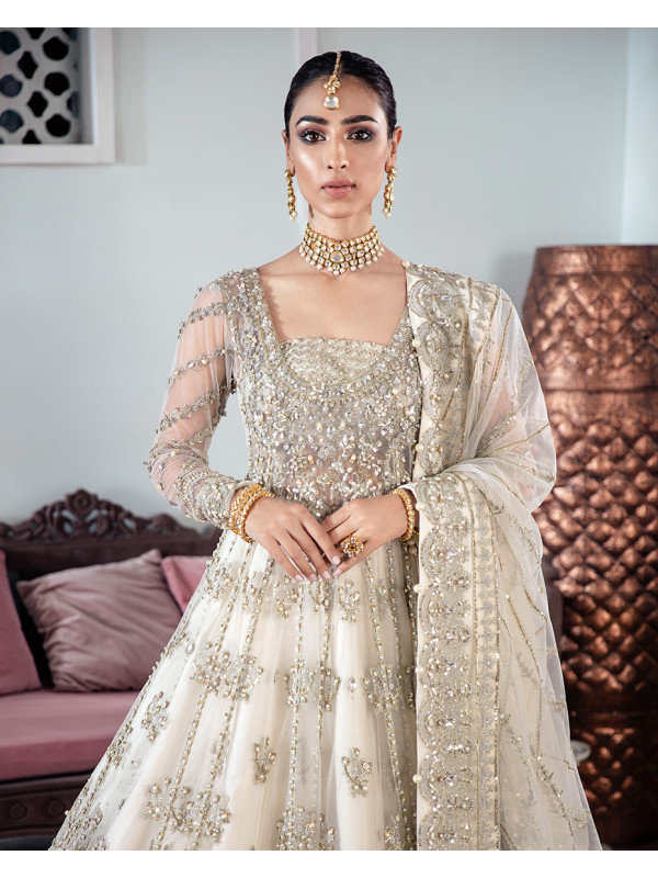 Meeral Embroidered Net 3-Piece Suit WS-22 - Meherma Wedding Formals Collection