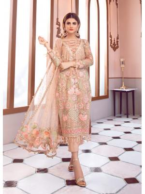 Jolie Embroidered Net 3 Piece D-4 - Soiree Luxury Formals