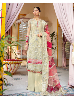 Kehkshan Embroidered Net 3 Piece suit WD-04 Unstitched Luxury Formals Wedding Collection