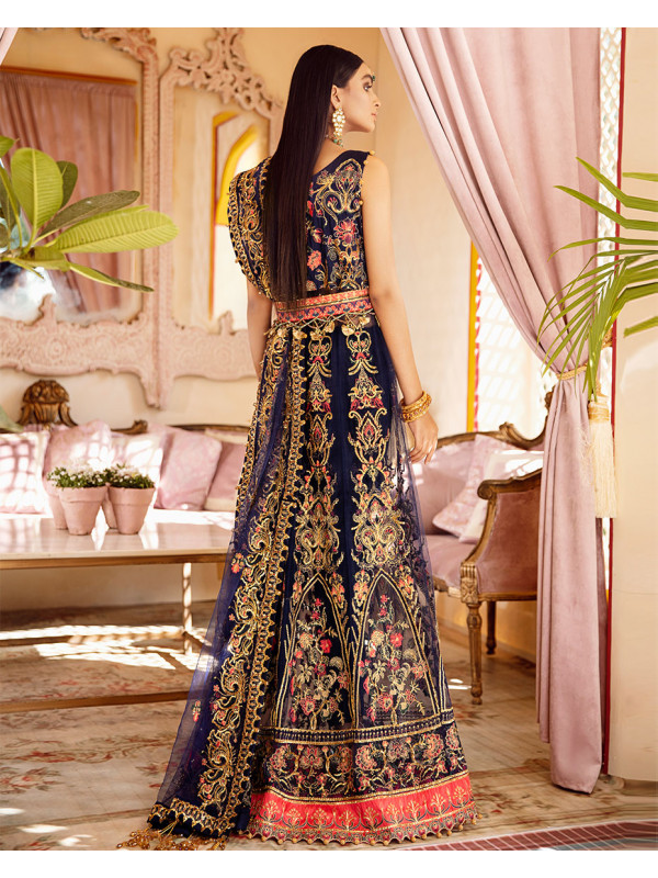 Sahiba Embroidered Net 3 Piece suit WD-05 Unstitched Luxury Formals Wedding Collection