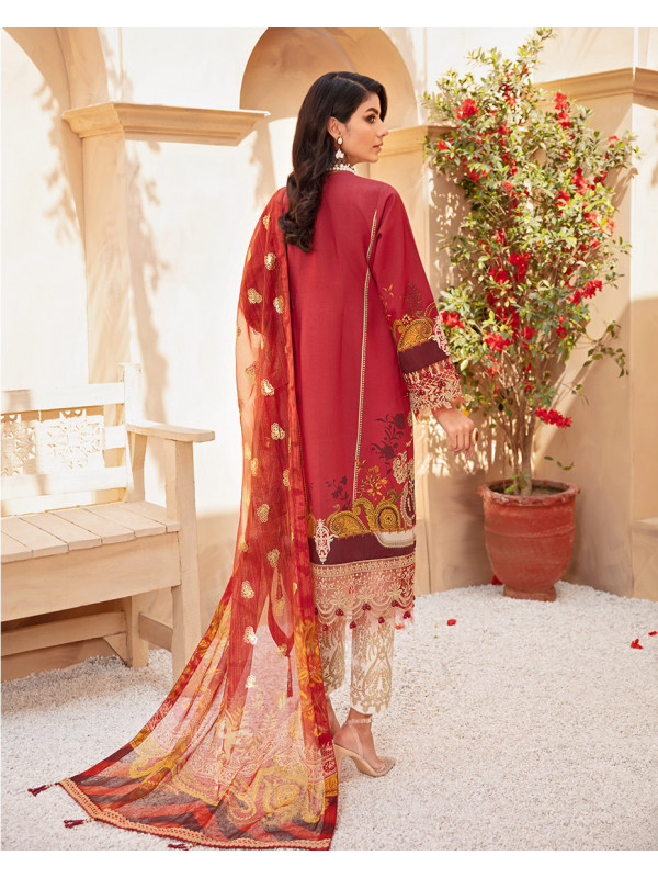 Aarzoo Embroidered Lawn 3-Piece Suit LL-02 by Gulaal Luxury Lawn
