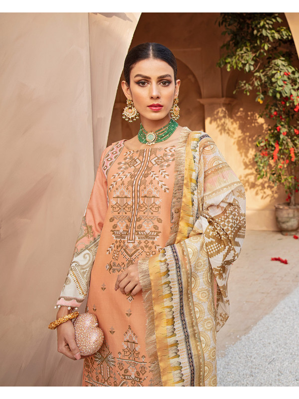 Amber Embroidered Lawn 3-Piece Suit LL-06 by Gulaal Luxury Lawn