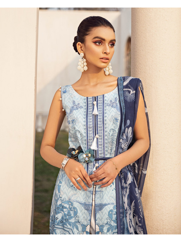 Anisah Embroidered Organza 3-Piece Suit GL-01 By Gulaal Lawn 2021-Volume I