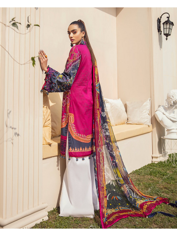 Aaliyah Embroidered Organza 3-Piece Suit GL-06 By Gulaal Lawn 2021-Volume I