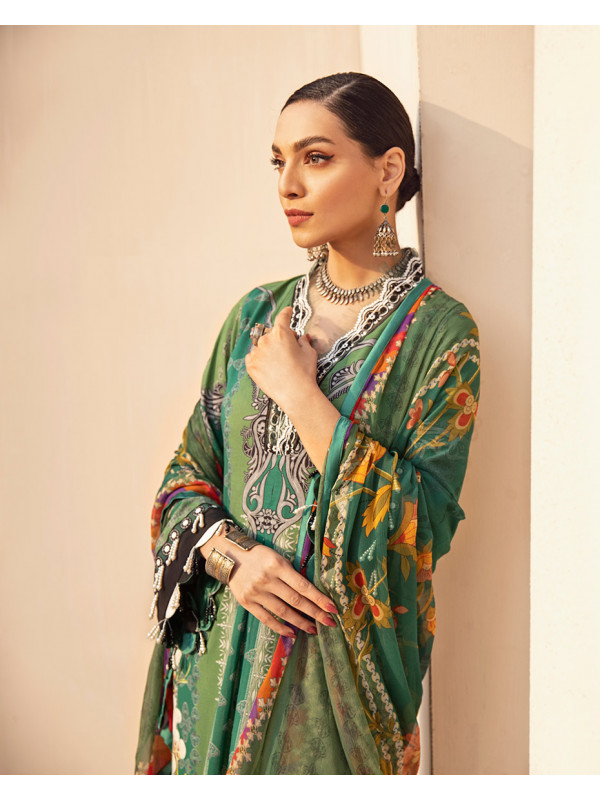 Amani Embroidered Organza 3-Piece Suit GL-07 By Gulaal Lawn 2021-Volume I