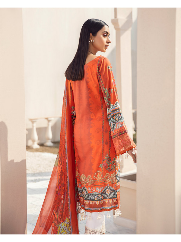 Meheroze Embroidered Organza 3-Piece Suit GL-08 By Gulaal Lawn 2021-Volume I