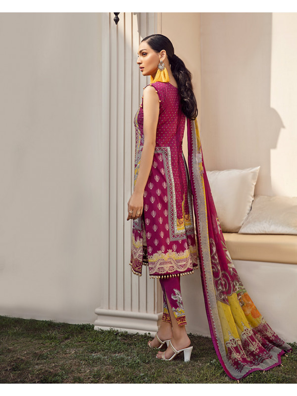 Naurang Embroidered Organza 3-Piece Suit GL-09 By Gulaal Lawn 2021-Volume I