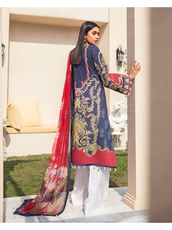 Aashna Embroidered Organza 3-Piece Suit GL-11 By Gulaal Lawn 2021-Volume I