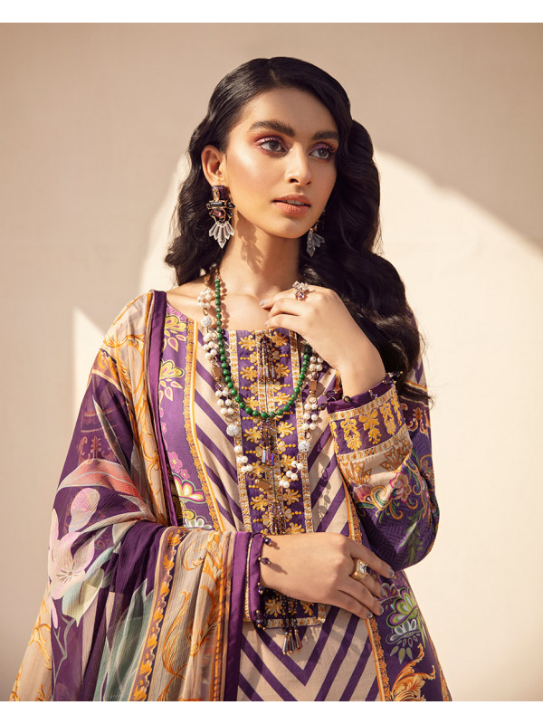Falak Embroidered Organza 3-Piece Suit GL-12 By Gulaal Lawn 2021-Volume I